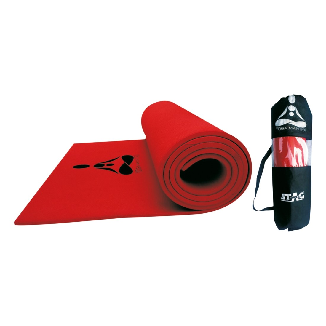 YOGA MANTRA BLACK/SILVERMAT 6 mm with bag