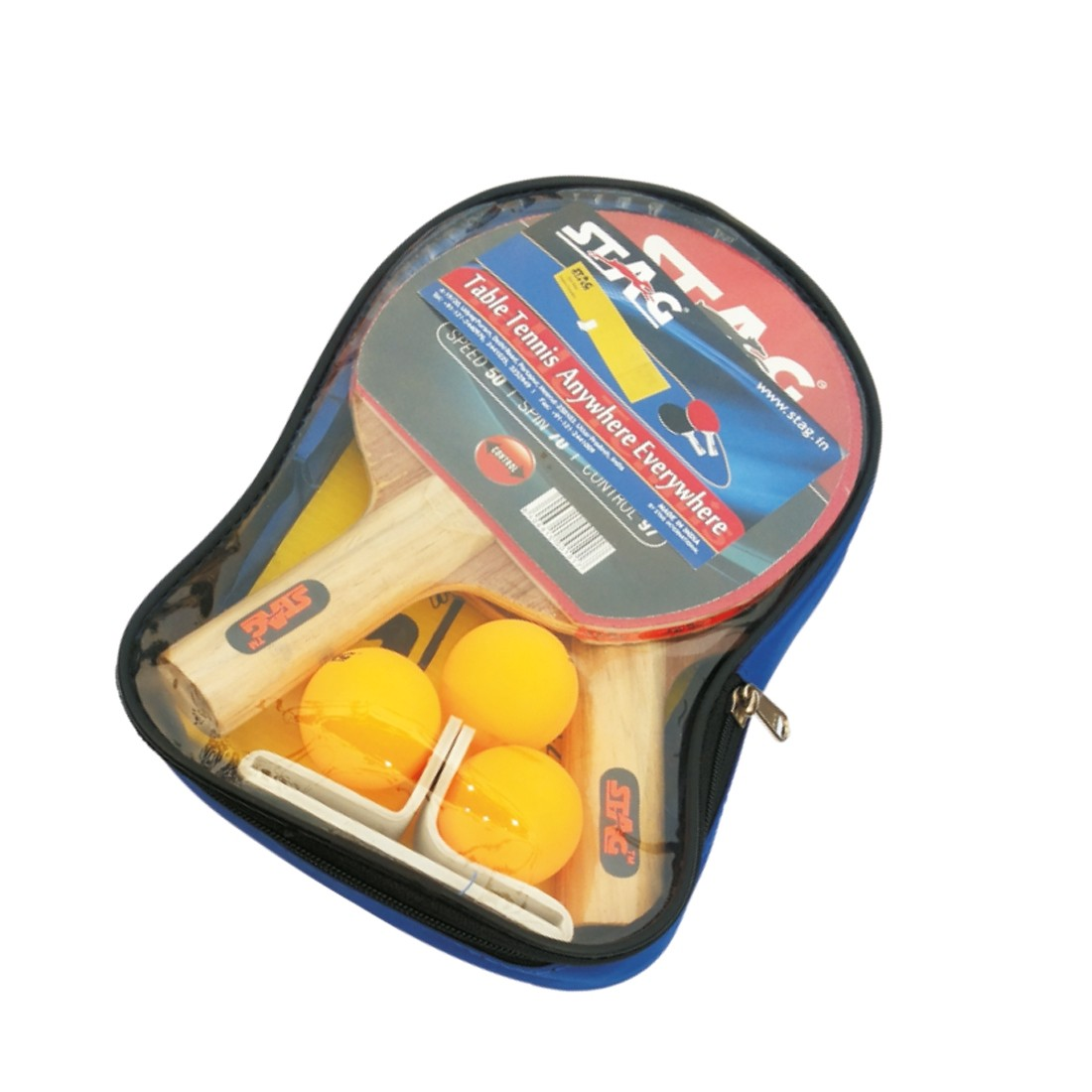 STAG PLAY SET 2 BATS, 3 BALLS AND A NET SET (ANYWHERE EVERYWHERE NET)