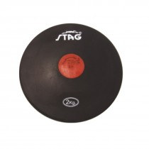 STAG DISCUS BLACK SYNTHETIC RUBBER 1.5 KG