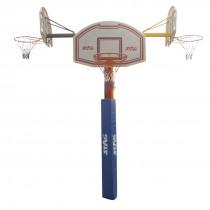 3 HEADED BASKETBALL SET POLYPROPYLENE BOARD 112 X 72 X 45CM. POST 120CM