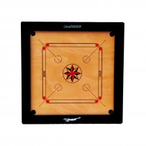 "STAG CARROM BOARD CHAMPIONSHIP 4"" BORDER 12MM M.D.F. WITH WHEELS"