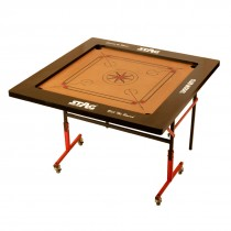 "STAG CARROM BOARD CLUB 4"" BORDER 6MM M.D.F. WITH WHEELS"