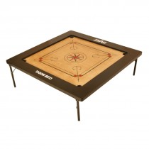 """STAG CARROM BOARD HOBBY 1.5"""" BORDER 3MM M.D.F. WITH WHEELS"""