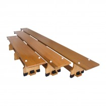 STAG GYMNASTICS BENCH  MADE UP OF SUPERIOR WOOD  2.6MTR X 23CM X 30CM
