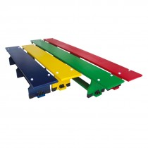 STAG COLOURED GYMNASTIC BENCH WITH WHEELS 2.60MTR X 23CM X 30CM
