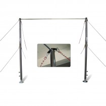 STAG HORIZONTAL BAR COMPETITION ADJUSTABLE HEIGHT 2.50MTR TO 2.95MTR