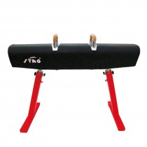 STAG POMMEL HORSE COMPETITION ADJUSTABLE HEIGHT 1.10MTR TO 1.50MTR