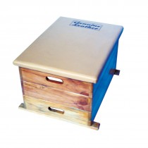 STAG VAULTING BOX JUNIOR 3 PCS. MADE OF BEACH WOOD WITH SYNTHETIC LEATHER