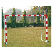 PORTABLE HANDBALL GOAL ALUMINUM W/WHEELS & 40MM BACK SUPPORT