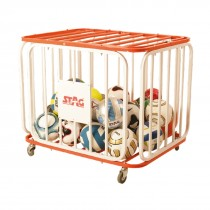 BALL CAGE FOR 36 BALLS, ROUNDED, TUBULAR STEEL 102CM X 76CM X 72CM