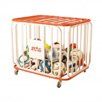 BALL CAGE FOR 36 BALLS, ROUNDED, ALUMINUM 102CM X 76CM X 72CM