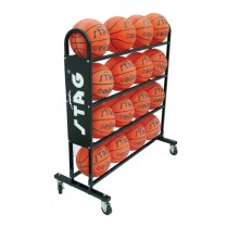 BALL TROLLEY FOR 16 BALLS, 1.12MTR X 1.02MTR X 44CM, 75MM WHEELS