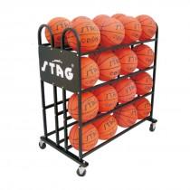 BALL TROLLEY FOR 32 BALLS, 1.12MTR X 1.02MTR X 59CM, 75MM WHEELS