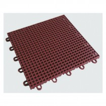 FLOOR  TILES HIG IMPACT POLYPROPYLENE SIZE 33CM X 33CM X 13MM (GREEN) (PER SQ.MTR.)