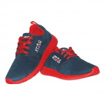 SUEDE (BLUE)/RED)