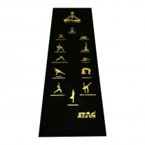 Black/golden Asana Mat 8 Mm With Bag