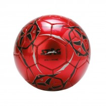 SOCCER BALLS, MINI CHROME, SHINNY PVC MACHINE STITCHED, RED