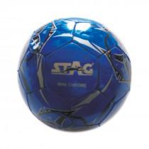 SOCCER BALLS, MINI CHROME, SHINNY PVC MACHINE STITCHED, BLUE