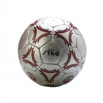 SOCCER BALLS, MINI CHROME, SHINNY PVC MACHINE STITCHED, GREY