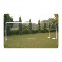 SOCCER GOAL POST ALUMINIUM DX PORTABLE WITH WHEELS (100MM ROUND)