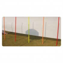 "SLALOM POLE ELEMENTARY SET OF 12 PVC POLES 68"" X 1.25"" W/METAL SPIKES"