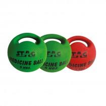 STAG MEDICINE SINGLE HANDLE BALL RUBBER 5 KG
