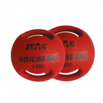 STAG MEDICINE DOUBLE HANDLE BALL RUBBER 8 KG