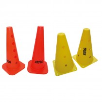 MARKER CONES WITH HOLES STRONG PVC 9""