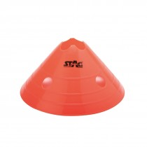 CUT TOP PVC FLUORESCENT DISC CONES SET OF 50PCS.
