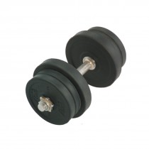 STAG HEAVY DUTY DUMBELL, RUBBER PLATES,  ADJUSTABLE 1 TO 10 KG
